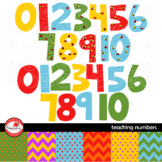 Teaching Numbers 2015 Clipart and Digital Paper by Poppydreamz