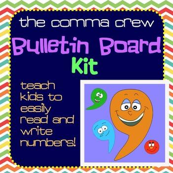 Teaching Place Value - The Comma Crew Bulletin Bd Kit & De