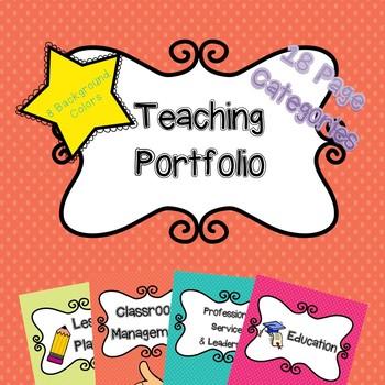 Teaching Portfolio with Cute Graphics