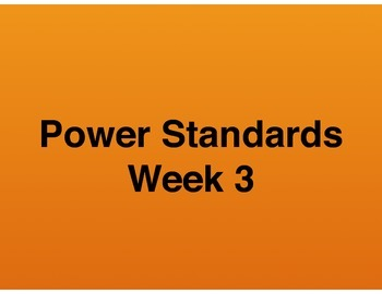 Teaching Presentations Week 3 - Language Arts Power Standa