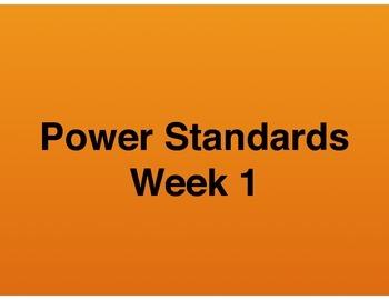Teaching Presentations Week 1 - Language Arts Power Standa