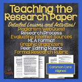 Research Paper Essay Unit - MLA, Plagiarism, Effective Res