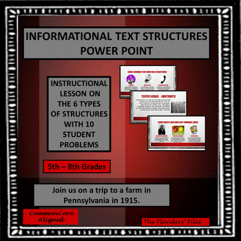 Teaching Structures Using Informational Text Power Point f