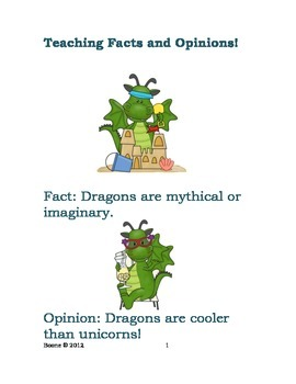 Teaching Students Facts vs. Opinions by Adrienne Boone