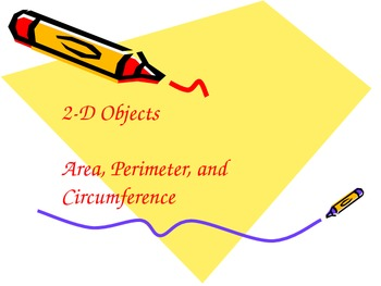 Teaching Students to Use Geometric Formulas -- 2D