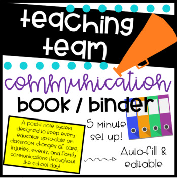 Teaching Team Communication Book / Binder