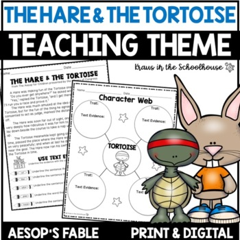 Teaching Theme with Fables - The Hare and the Tortoise