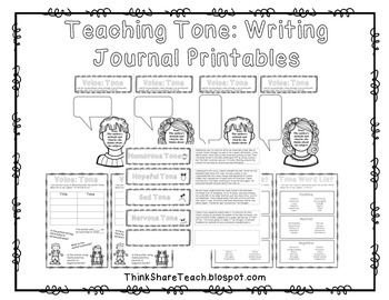 Teaching Tone Writing Notebook Printables