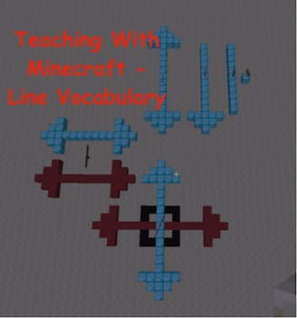 Teaching With Minecraft - Line Vocabulary (point, line, li