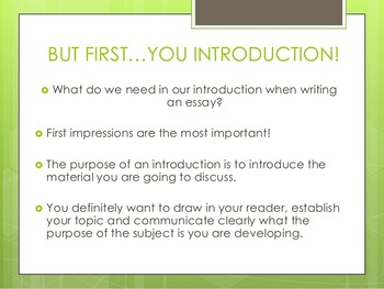 Teaching the Expository Essay Introduction Paragraph