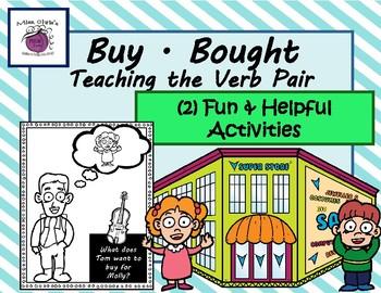 Teaching the Verb Pair  ~BUY/BOUGHT~  (2) Fun & Helpful Ac
