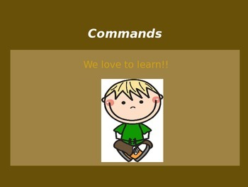 Teaching what a COMMAND is with a POWER POINT presentation