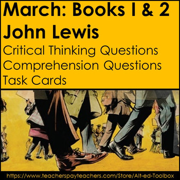 March: Book One and Two by John Lewis (Worksheets and Flashcards)