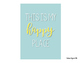 Teal, Aqua & Yellow Classroom Quote Mini Posters