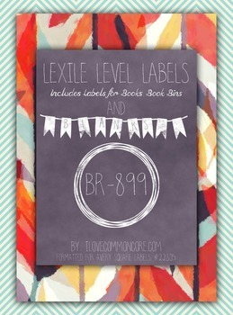 Teal Chevron Floral Lexile Level Labels for Books and Book