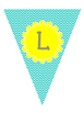 Teal Chevron Welcome pennant