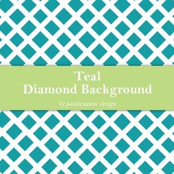Teal Diamond Pattern Background