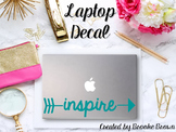 "Teal ""Inspire"" Laptop Decal"