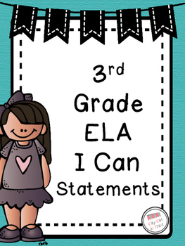 Teal Owl-Themed ELA Common Core I Can Statements