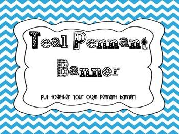 Teal Pennant Banner