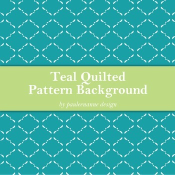 Teal Quilted Pattern Background