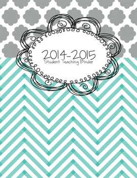Teal Student Teaching Dividers *Editable*