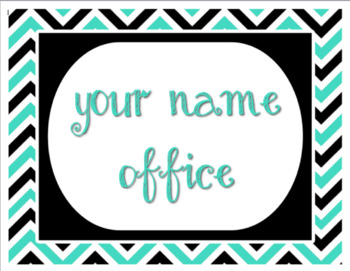 """Teal and Black - Mrs. Holcomb's office - 8.5""""x11"""""""