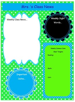 Teal and Lime Newsletter Template