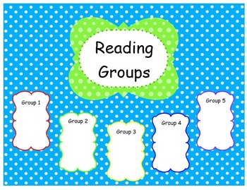 Teal and Lime Reading Group Template