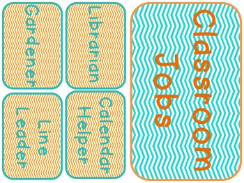 Teal and Orange Classroom Pack