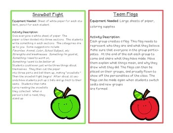 Team Building Activity Cards