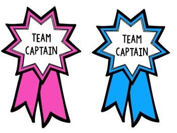 Team Captain Ribbons