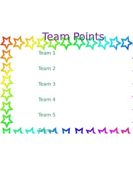 Team Point Record Sheet