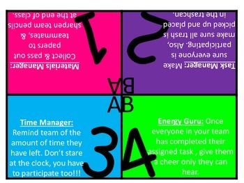 Team Table Sign with Responsibilities UPDATED!!!