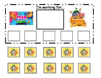 Team Umizoomi Token Board