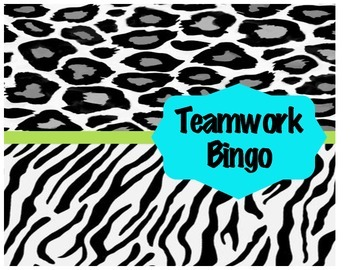 Teamwork Bingo Safari Themed