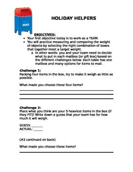 Teamwork Challenge - Holiday Helpers Postal Service