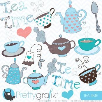 Teapot clipart commercial use, vector graphics, digital cl