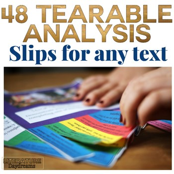 Literary Analysis and Close Reading Tasks (Tearable)