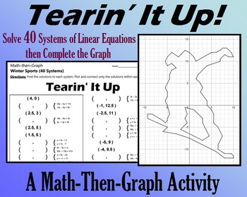 Tearin' It Up - 40 Systems & Coordinate Graphing Activity