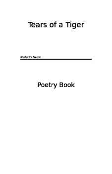 Tears of a Tiger - Poetry Book