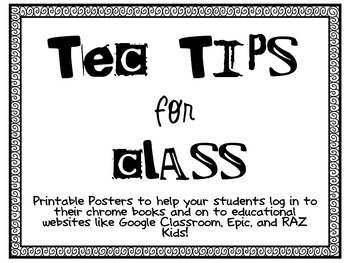 Tec Tip Posters for the Class (Editable) Freebie