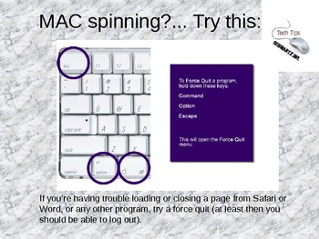 Tech Tips for Mac - Force Quit!