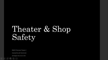 Technical Theater/Stage Craft Shop Safety