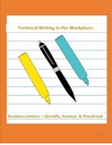 Technical Writing in the Workplace: Business Letters-Ident
