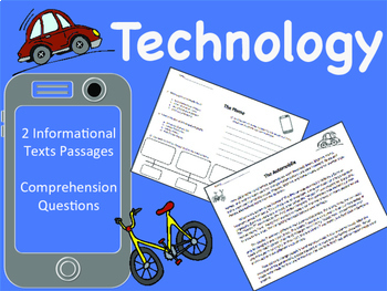 Technology: Informational Text, Comprehension Questions, W