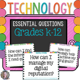 Technology Essential Questions Posters {2016 Update}