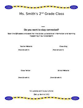 Technology Handout (First week of School)