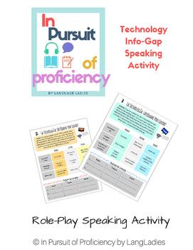 Technology Help-Line Spanish Info-Gap Activity