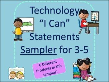 Technology I Can Statements Sampler for 3-5
